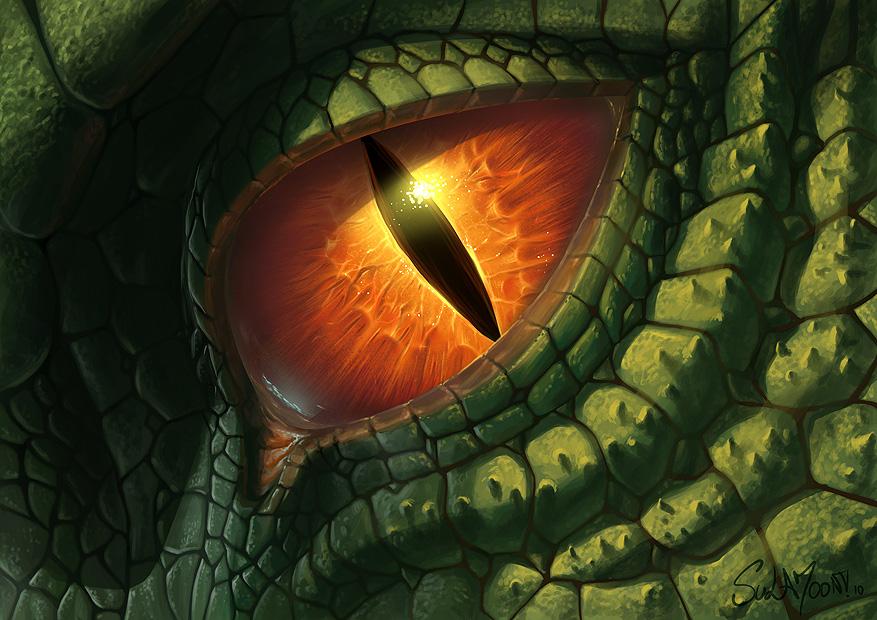 Green logo looks like an eye 11