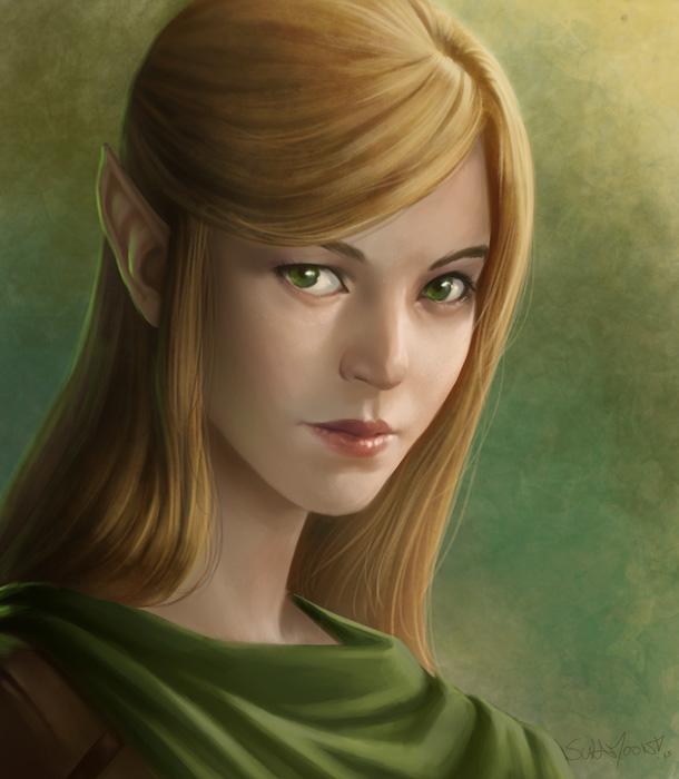 Elf Sketch Portrait By Sulamoon On Deviantart