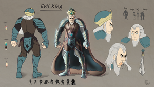 EvilKing ConceptSheet by moonmakes