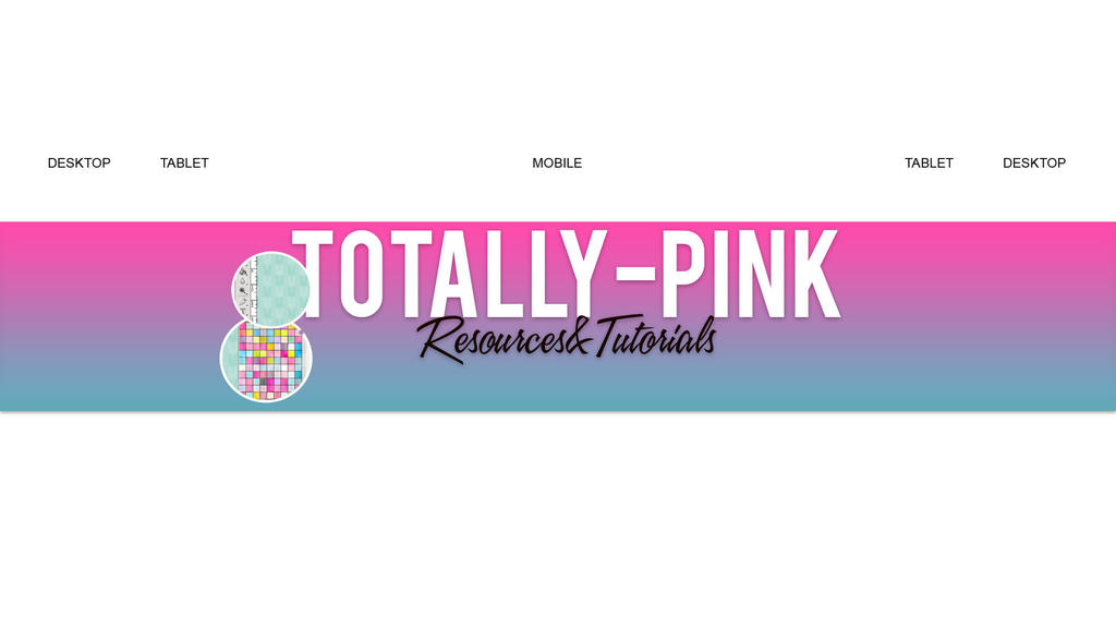 YouTube Banner Template by TotallyPinkk by TotallyPinkk on DeviantArt