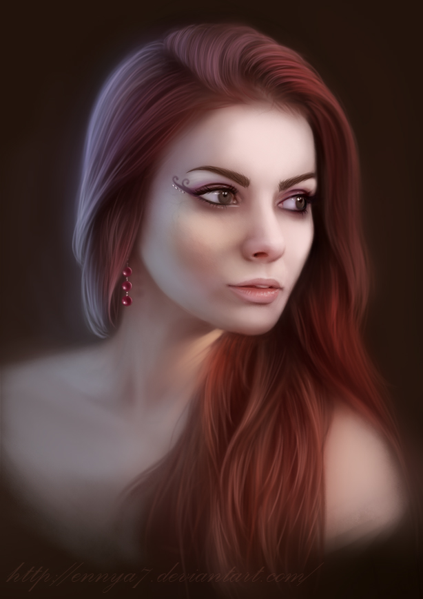 Girl, portrait by Ennya7