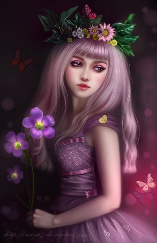 [Criação] NPC's para as Routes do RPG 3.0 - Página 2 Girl_with_flowers_by_ennya7-d7qmje6