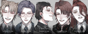 Commission : Rough headshot batch #03