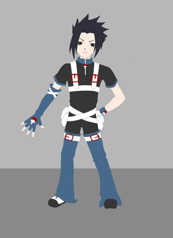 Sasuke Outfit Design by PulseShadows on deviantART