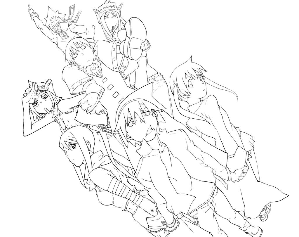 Souleater Free Colouring Pages