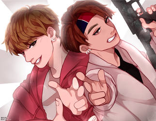 taekook | #btscoloringbookproject by ShizuKelv