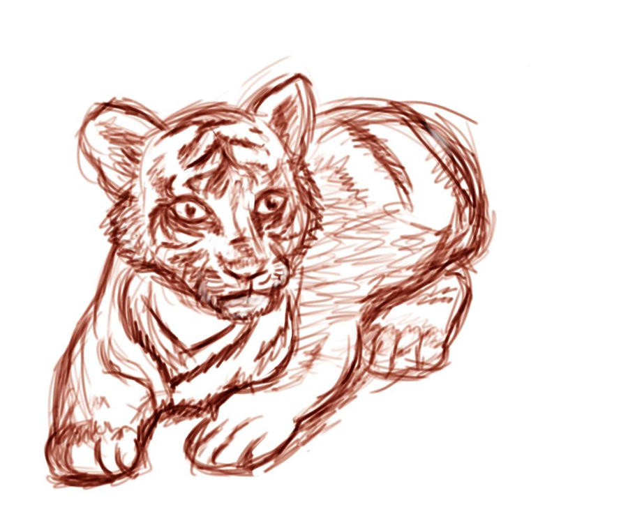 Tiger without stripes for Tiger without stripes coloring page