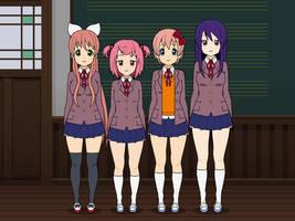 Doki Doki Literature Club Kisekae by MagiArtist