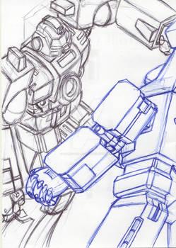 Original pencils for cover art