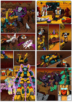 TF S.O.D Terrorcon Hunt Act 3 coloured pages