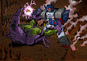 Scorponok Vs Fortress Maximus By Joeteanby by Gambits-Wild-Card