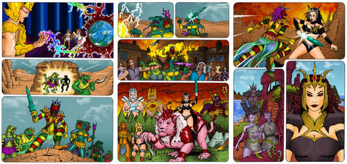 PoP/MotU - The Coming of the Towers coloured pages by Gambits-Wild-Card
