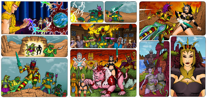 PoP/MotU - The Coming of the Towers coloured pages