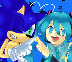 SEGA blue stars by RocketHaruka