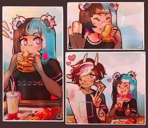 [Dainty prompt] Wcdonalds Dinner Date by GhoulRadio