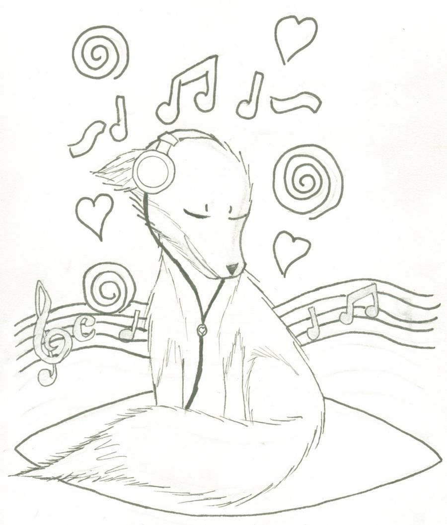 Coloring pages music - Coloring Pages Music Music Fox Coloring Page By Fancyninjacat Music Fox Coloring Page By Fancyninjacat