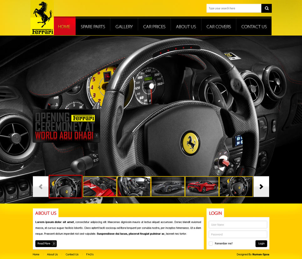 ferrari 1 by silent princee d33zpcq Creatively Inspired Web Interface Designs