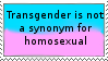 Stamp: Transgender does not mean homosexual