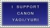 Stamp: Yaoi/Yuri canon pairings by PyroKey