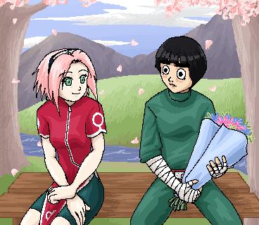 Sakura and Lee sweetness by KinpatsuYasha
