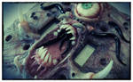 Green eye, tenticals and teeth..