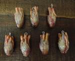 Realistic Human Heart Pendants..