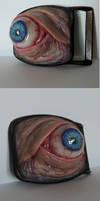 Realistic human eye belt buckle