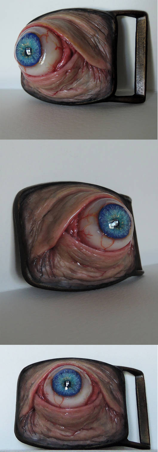 Realistic human eye belt buckle by MorgansMutations