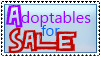 Adoptables for Sale Stamp by iiAppleTea