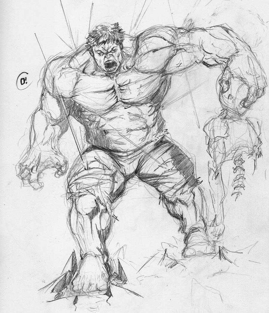 Hulk Sketch By Jun-OH On DeviantArt