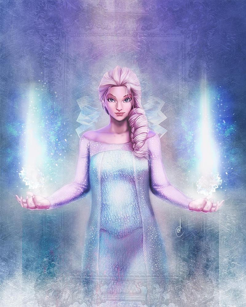 Frozen : Queen Elsa by Jun-OH