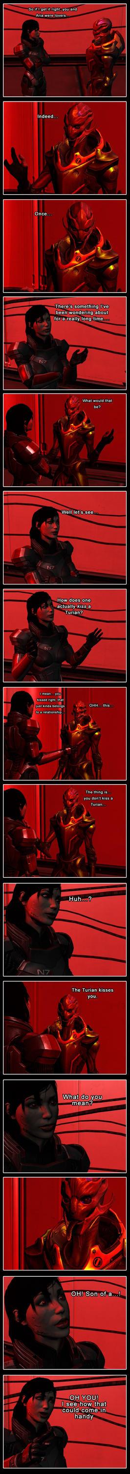 Mass Effect - Turian Kiss by Yuri-World-Ruler