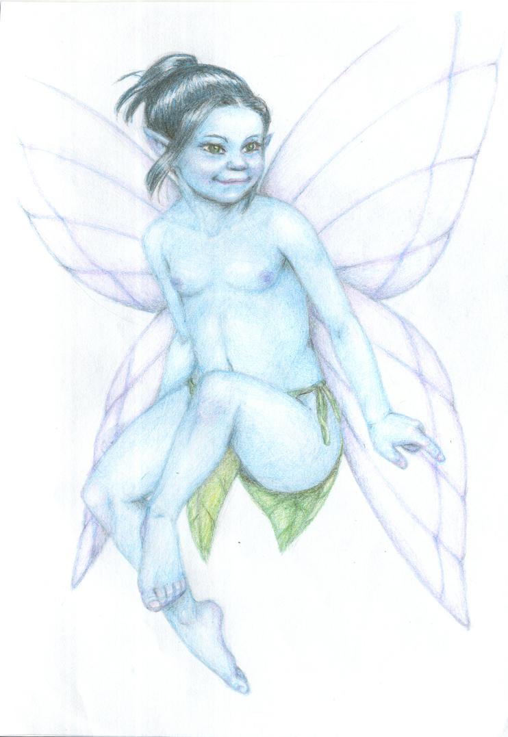 Hada azul/ Blue fairy by PurpleRedRose