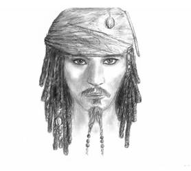 Captain Jack Sparrow by TzimplyArt