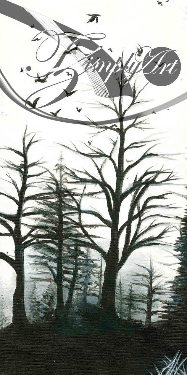 Foggy Trees by TzimplyArt