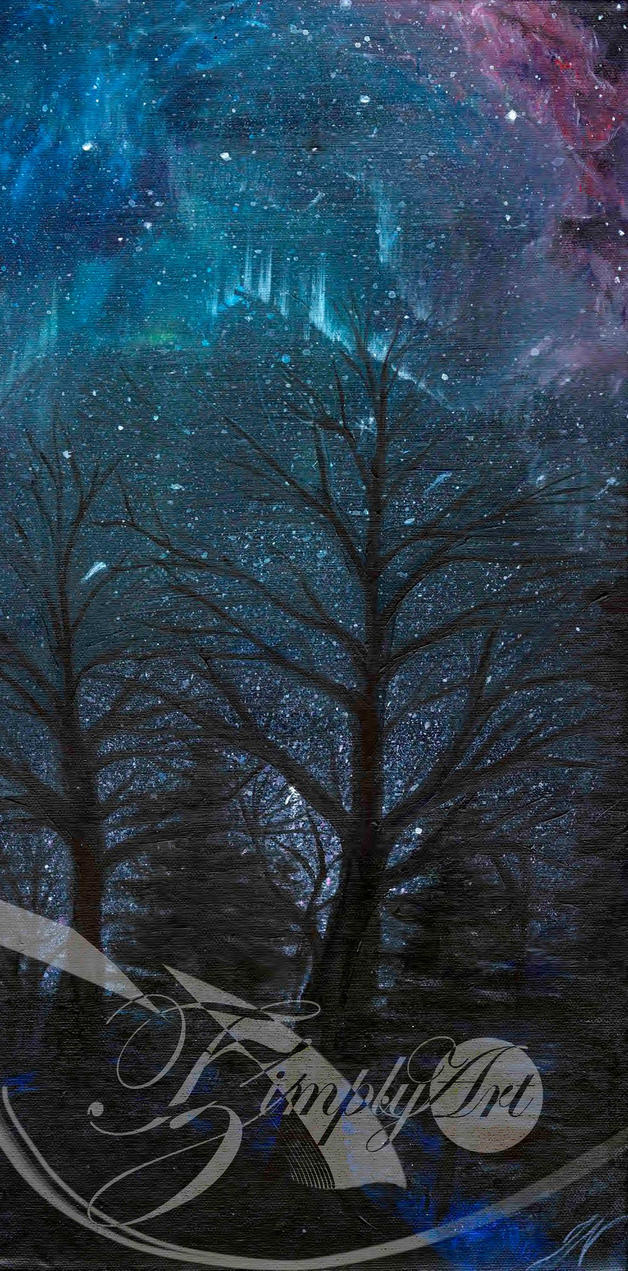 Starry Trees by TzimplyArt