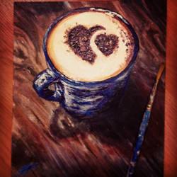 Coffee Art Art by TzimplyArt