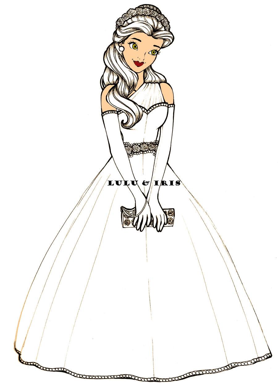 disney princess wedding dresses belle by luluibeh on