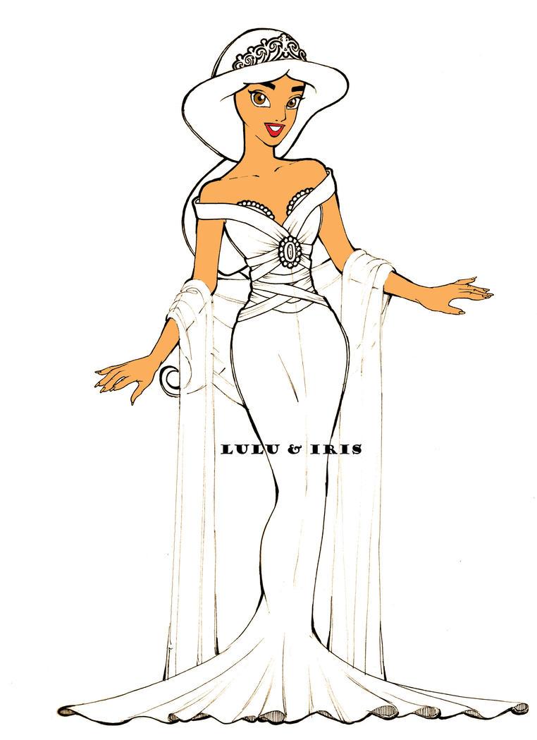 Disney Princess Wedding Dresses: Jasmine by lulu-ibeh on DeviantArt