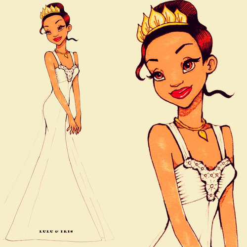Disney princess wedding dresses tiana by lulu ibeh