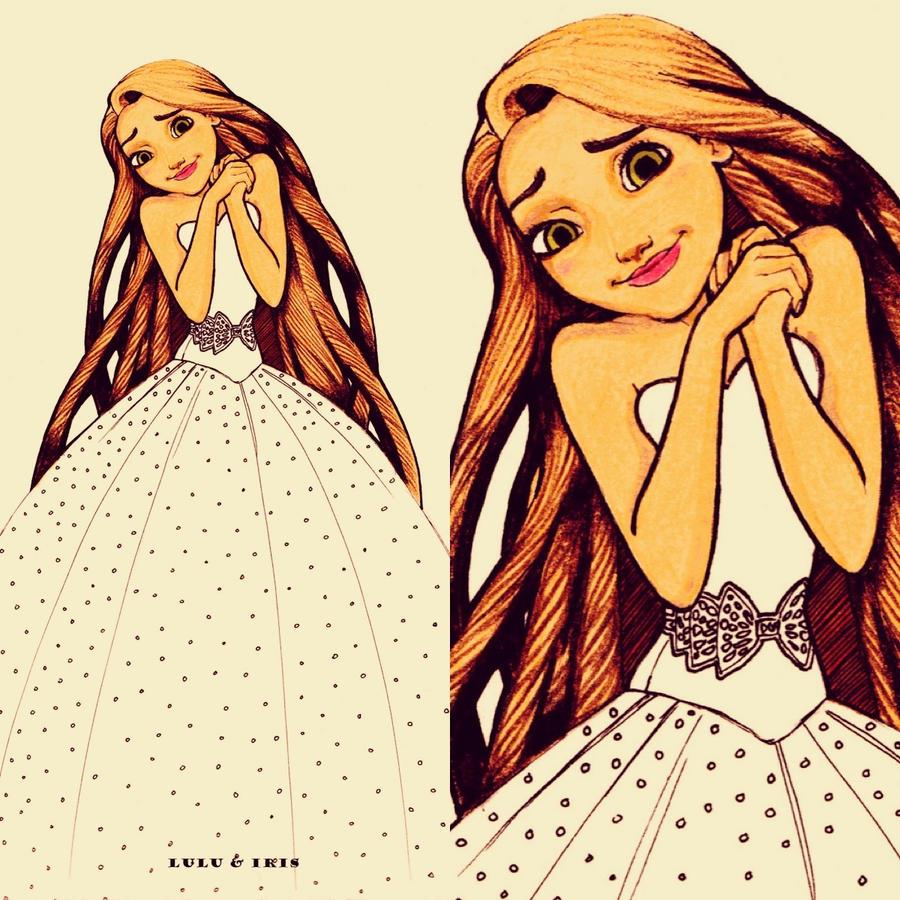 Disney Wedding Dresses Rapunzel By Lulu Ibeh