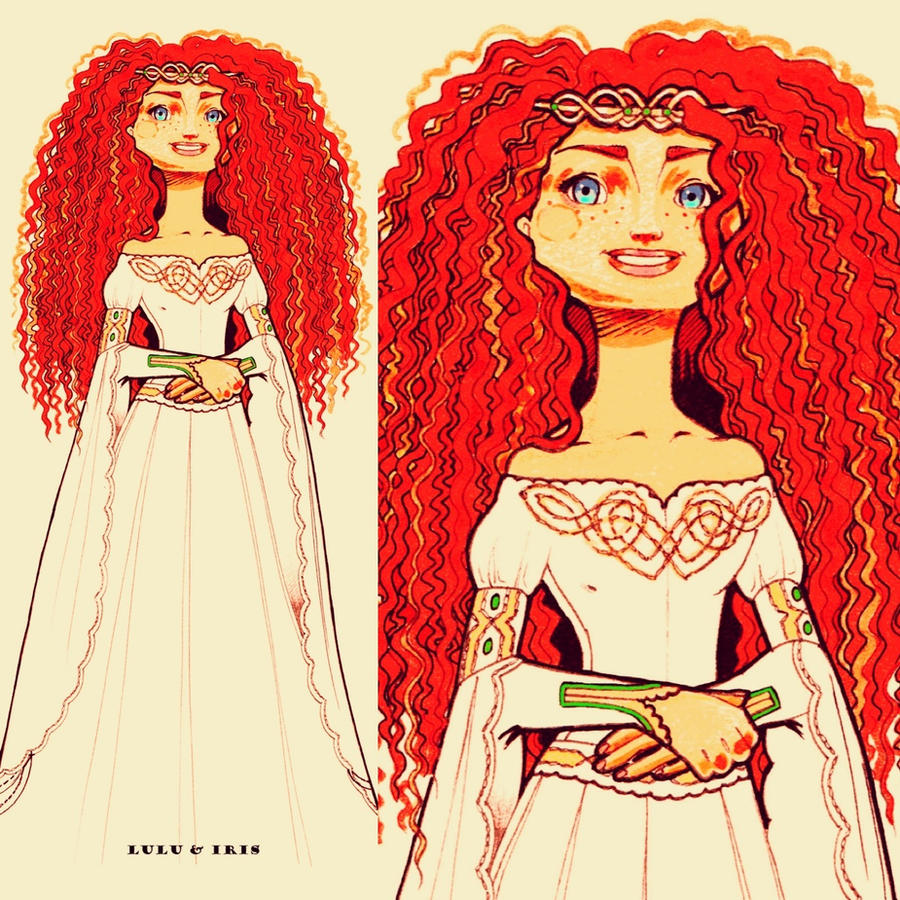 Disney Princess Wedding Dresses: Merida by lulu-ibeh