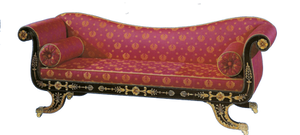 Royal red antique couch by jinifur