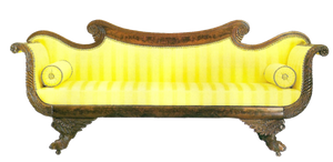 yellow antique couch by jinifur