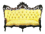 Yellow antique sofa