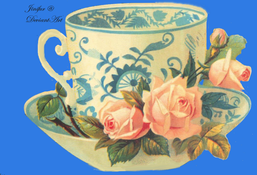 Victorian teacup clipart by jinifur on DeviantArt