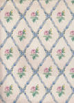 ribbon rose blue pattern