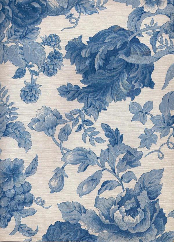 Blue flower pattern by jinifur