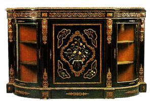 Antique Black Cabinet by jinifur
