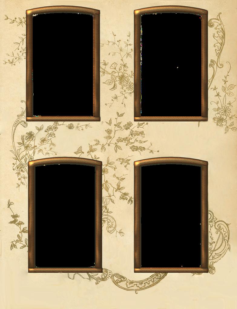 Vintage 4 window frame by jinifur on deviantart for Window design 4 by 4